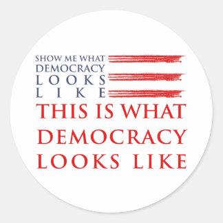 Autocollant de démocratie
