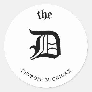 Autocollant de Detroit, Michigan