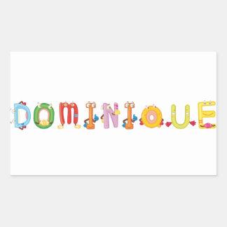 Autocollant de Dominique