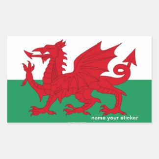 Autocollant de drapeau de cymru du Pays de Galles