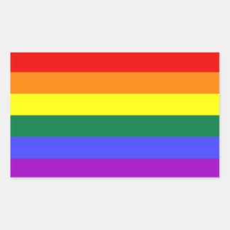 Autocollant de drapeau de fierté d'arc-en-ciel