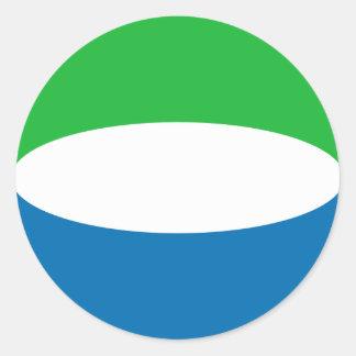 Autocollant de drapeau de Fisheye de Sierra Leone