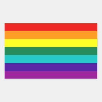 Autocollant de drapeau de gay pride d arc-en-ciel
