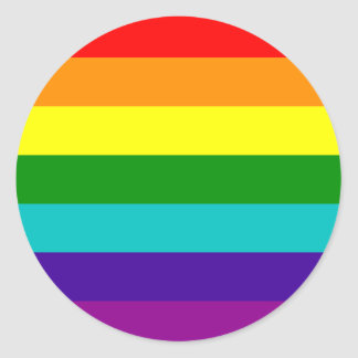 Autocollant de drapeau de gay pride d'arc-en-ciel