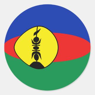 Autocollant de drapeau de la Nouvelle-Calédonie