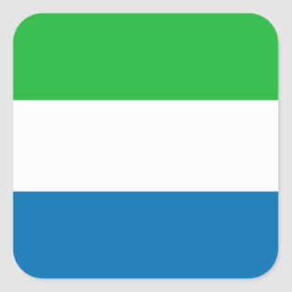 Autocollant de drapeau de Sierra Leone