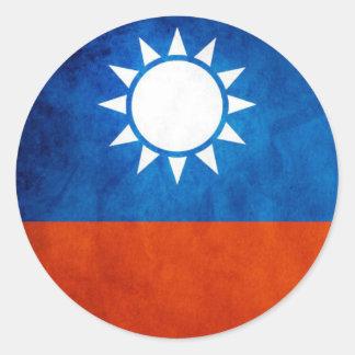 Autocollant de drapeau de Taïwan