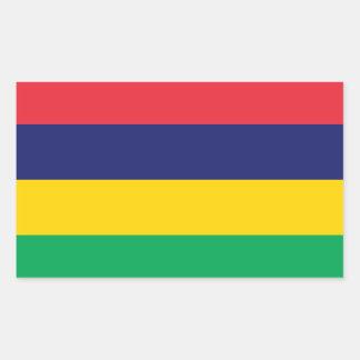 Autocollant de drapeau des Îles Maurice