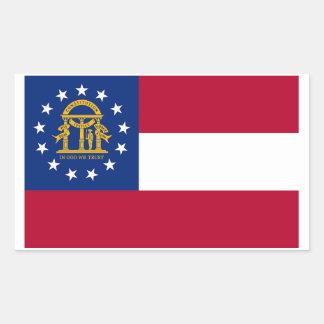 Autocollant de drapeau d'état de la Géorgie - 4
