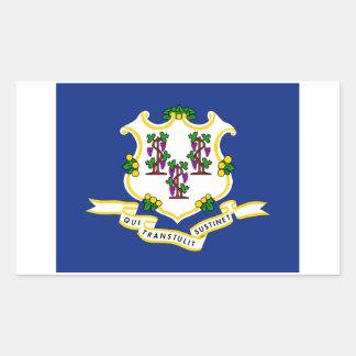 Autocollant de drapeau d'état du Connecticut - 4