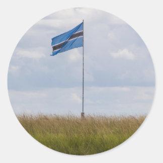 Autocollant de drapeau du Botswana