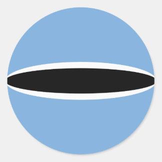 Autocollant de drapeau du Botswana Fisheye