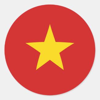 Autocollant de drapeau du Vietnam Fisheye