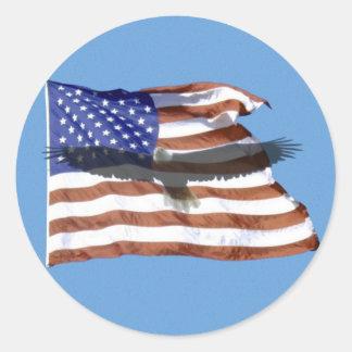 Autocollant de drapeau et d Eagle