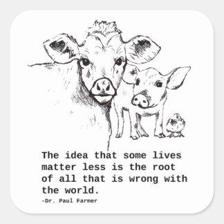Autocollant de droits des animaux