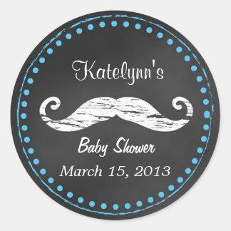 Autocollant de faveur de baby shower de moustache