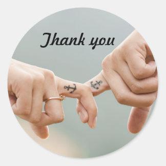 Autocollant de faveur de Merci de mariage