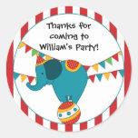 Autocollant de fête d'anniversaire d'éléphant de