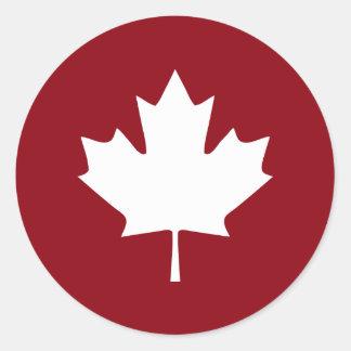 Autocollant de feuille d'érable du Canada -