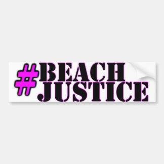 autocollant de fierté de #Beachjustice