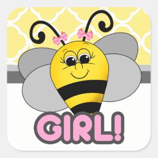 Autocollant de fille d'abeille de Cutie