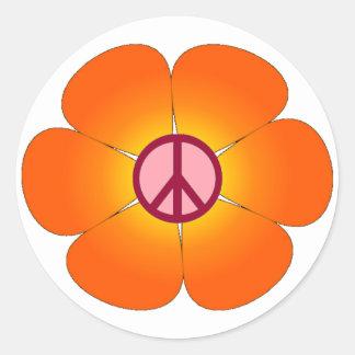Autocollant de fleur de paix