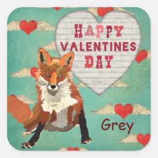 Autocollant de Fox rouge Valentine