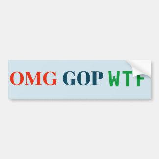 Autocollant de GOP WTF d'OMG