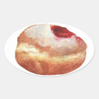 Autocollant de Hanoukka de beignet de gelée