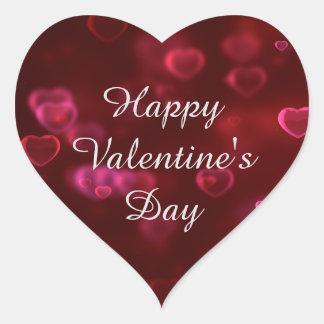 Autocollant de heureuse Sainte-Valentin de coeur