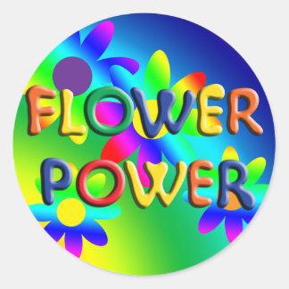 Autocollant de hippie de flower power