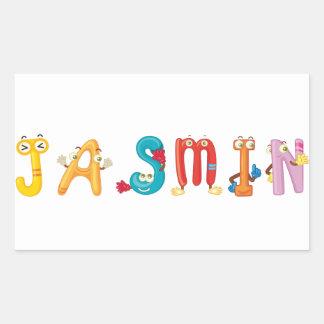 Autocollant de jasmin
