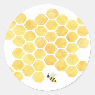 Autocollant de jaune de nid d'abeilles d'abeille