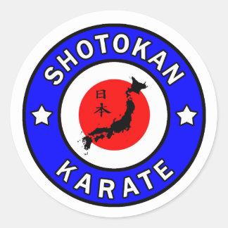 Autocollant de karaté de Shotokan