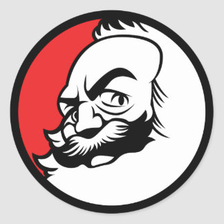 Autocollant de Karl Marx d'Anime