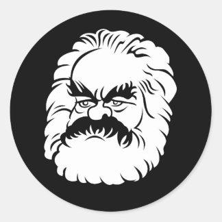 Autocollant de Karl Marx de bande dessinée (noir)