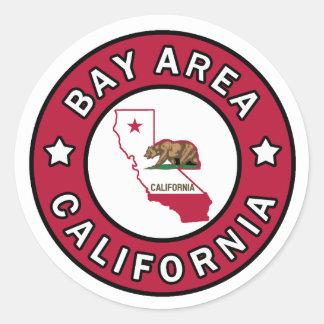 Autocollant de la Californie de région de baie