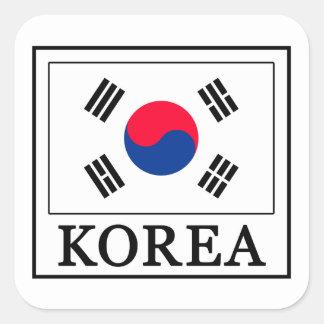 Autocollant de la Corée