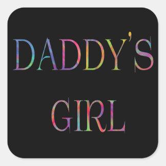 Autocollant de la fille du papa