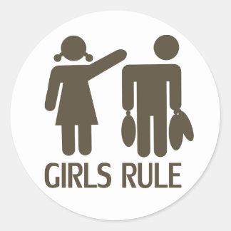 Autocollant de la règle   de filles
