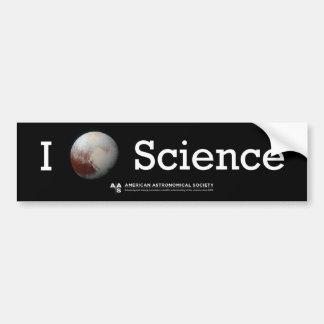 Autocollant de la Science I (du coeur de Pluton) Autocollant Pour Voiture