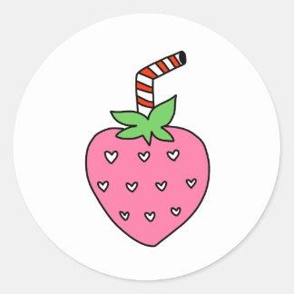 AUTOCOLLANT de lait de fraise, AUTOCOLLANT mignon