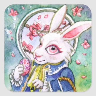 Autocollant de lapin de Pâques