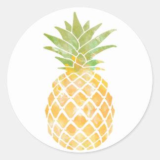 Autocollant de l'aquarelle | d'ananas