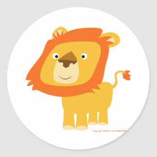 Autocollant de lion de Cartoony