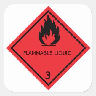 Autocollant de liquide inflammable