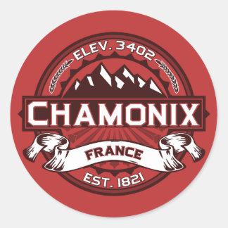 Autocollant de logo de couleur de Chamonix