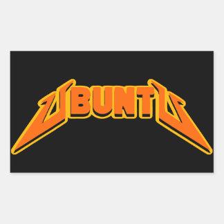 Autocollant de logo de parodie de roche d'Ubuntu