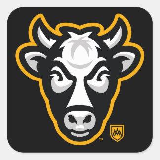 Autocollant de logo de tête de vache au Wisconsin