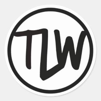 Autocollant de logo de TLW brillant